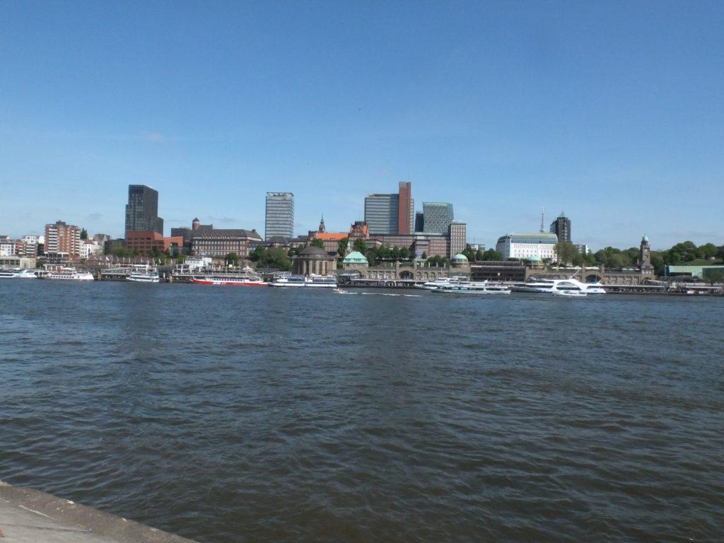 Pohľad na Hamburg