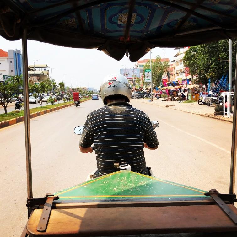 Kmérsky tuk-tuk, Kambodža